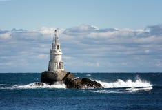 Latarnia morska w porcie Ahtopol, Czarny morze, Bułgaria Latarnia morska przy Ahtopol Obrazy Royalty Free