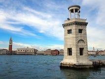 Latarnia morska w San Giorgio Venice z panoramicznym widokiem venetian Zdjęcie Royalty Free
