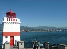 Latarnia morska w Stanley parku, Vancouver, Kanada Zdjęcie Stock