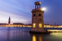 Latarnia morska w Wenecja Fotografia Royalty Free