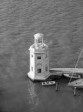 Latarnia morska w Wenecja w czarny i biały Obrazy Royalty Free