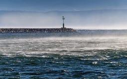 Latarnia morska w wiatrze 1 Fotografia Stock
