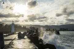 Latarnia morska w Wollongong Australia zdjęcia stock