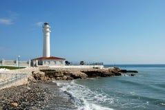 Latarnia morska wzdłuż linii brzegowej, Torrox Costa Obrazy Royalty Free