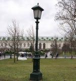 Latarnia Uliczna W Aleksander ogródzie blisko ścian Moskwa Kremlin Obrazy Royalty Free