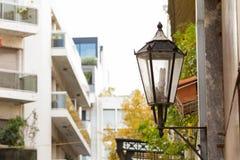 Latarnia uliczna w centrum Ateny zdjęcie royalty free