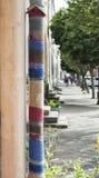 Latarnia zakrywająca w wełien tkaninach Zdjęcie Royalty Free