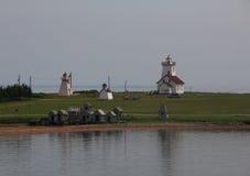 Latarnie morskie i chałupy Zdjęcie Royalty Free
