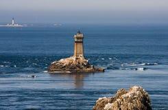 Latarnie morskie w morzu Obrazy Royalty Free