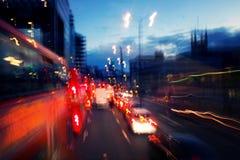 Latarnie uliczne nocą w Londyn Zdjęcie Royalty Free