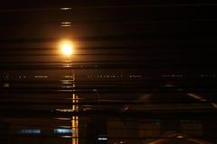 Latarnie uliczne przy nocą Fotografia Royalty Free