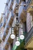 Latarnie uliczne w Barcelona, Hiszpania Fotografia Royalty Free