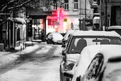 Latarnie uliczne w centrum miasta Obrazy Royalty Free
