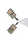 latarnie uliczne wysyłają na białym tle Zdjęcie Stock