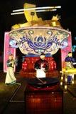 Latarniowy przedstawienie w Zigong, porcelana w 2014 Fotografia Royalty Free