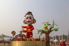 2016 latarniowych festiwali/lów w Chengdu, porcelana Zdjęcie Royalty Free