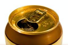 Latas cubiertas de rocio de cerveza Fotografía de archivo libre de regalías