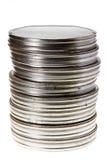 latas da película de 35 milímetros Imagem de Stock