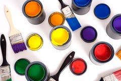 Latas da pintura Imagens de Stock