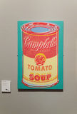 Latas da sopa do ` s de Andy Warhol Campbell Fotos de Stock Royalty Free