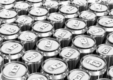 Latas de alumínio Fotografia de Stock Royalty Free