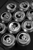 Latas de aluminio Fotos de archivo