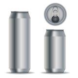 Latas de bebida de aluminio Foto de archivo libre de regalías