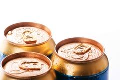 Latas de bebidas frias Imagem de Stock