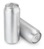 latas de cerveja de alumínio de 500 ml Imagem de Stock Royalty Free