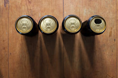 Latas de cerveza foto de archivo libre de regalías