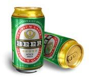 Latas de cerveza Fotos de archivo libres de regalías
