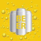 Latas de cerveza Imagen de archivo libre de regalías