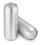 latas de cerveza del aluminio de 500 ml Imagen de archivo libre de regalías