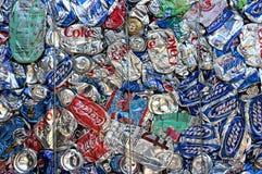 Latas de consumición Foto de archivo