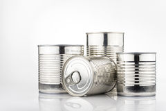 Latas de estanho Foto de Stock Royalty Free