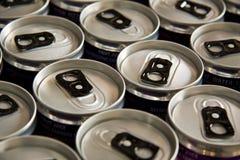 Latas de la bebida Fotos de archivo libres de regalías
