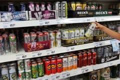 Latas de la bebida de la energía Foto de archivo libre de regalías