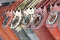 Latas de la gasolina Fotos de archivo libres de regalías
