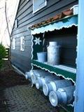 Latas de la leche Fotografía de archivo libre de regalías