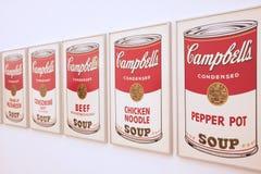Latas de la sopa Imagenes de archivo