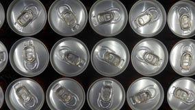 Latas de lata vistas de cima de Imagem de Stock Royalty Free