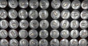 Latas de lata vistas de cima de Imagem de Stock