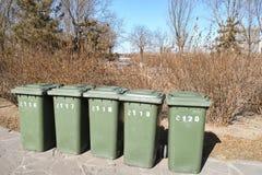 Latas de lixo Imagem de Stock Royalty Free