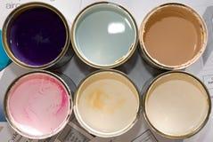 Latas de pintura Imagen de archivo