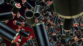 Latas de pulverizador abstratas da cor de voo no preto ilustração stock