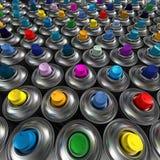Latas de pulverizador do aerossol Fotografia de Stock