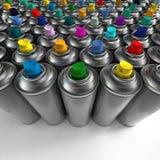 Latas de pulverizador do aerossol Imagem de Stock Royalty Free