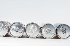 Latas de soda Imagenes de archivo