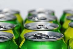 Latas de soda foto de archivo