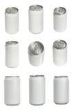 Latas de soda de aluminio fotografía de archivo libre de regalías
